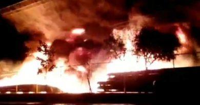 Se registra fuerte incendio en Bordo de Xochiaca