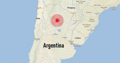 Se registra sismo de 5.1…  ahora en Argentina y Chile