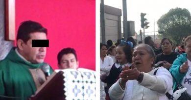 ¡Padre Francisco es inocente!  gritan feligreses y bloquean  Insurgentes