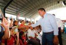 """El alcalde ofrece en San José Tecoh, un """"primer corte"""" de las labores realizadas"""