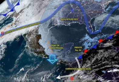 Masa de aire frío favorecerá  nublados y lloviznas