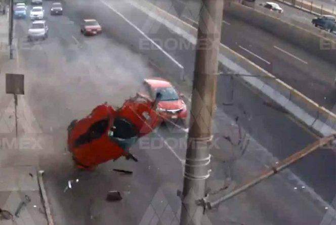 Muere conductor que 'salió  volando' en Periférico