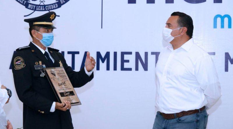 Se realiza un trabajo constante para fortalecer la seguridad en Mérida