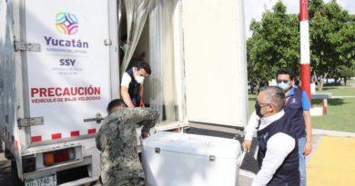 Llega a Yucatán con 77,400 dosis para continuar con la vacunación de personas de 18 a 29 años